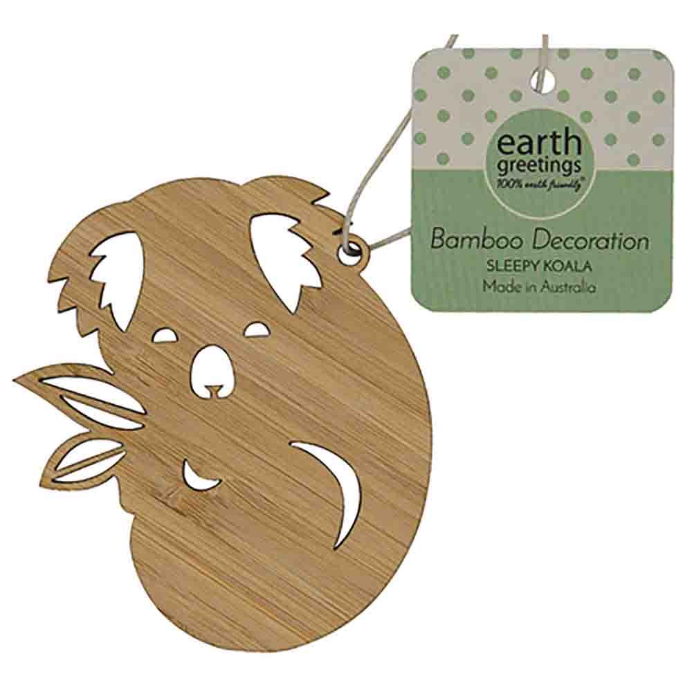 Earth Greetings Bamboo Decoration - Sleepy Koala