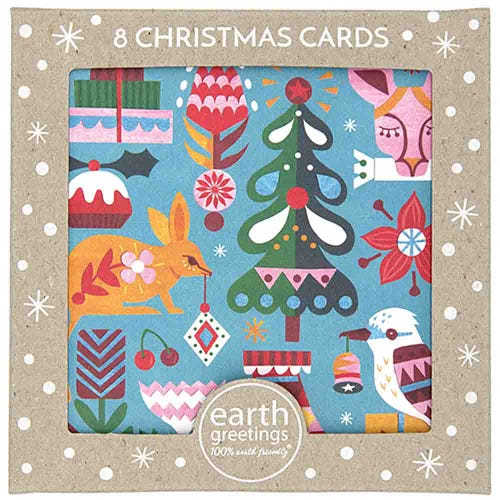 Earth Greetings Christmas Cards - Bushland Greetings (8 Cards)
