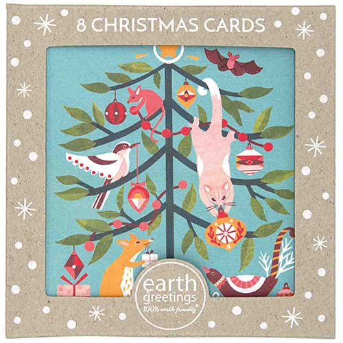 Earth Greetings Christmas Cards - Festive Frolic (8 Cards)