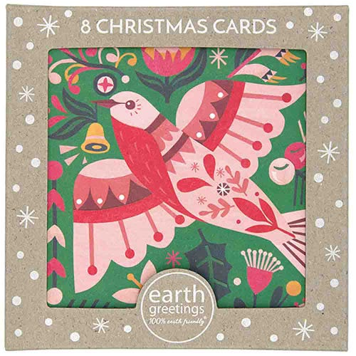 Earth Greetings Christmas Cards - Flame Robin (8 Cards)