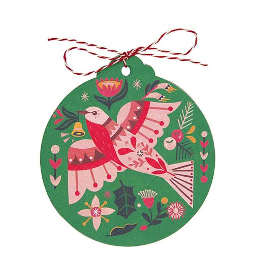 Earth Greetings Christmas Gift Tags - Flame Robin (8 Tags)