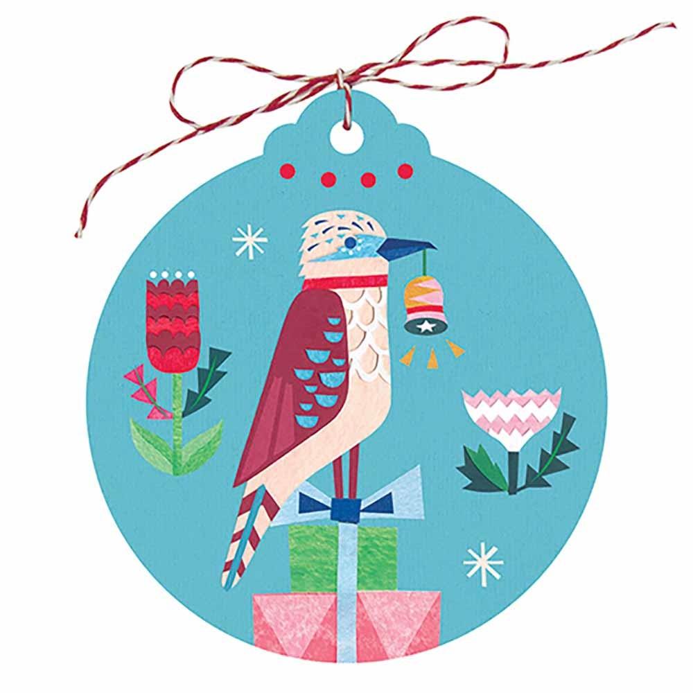 Earth Greetings Christmas Gift Tags - Kookaburra (5 Tags)