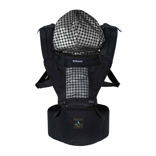 Elbini & Co Organic Hip Seat Carrier - Black