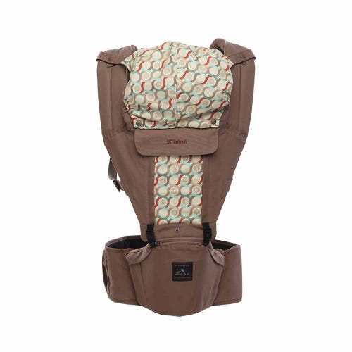 Elbini & Co Organic Hip Seat Carrier - Caramel