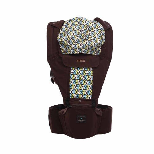 Elbini & Co Organic Hip Seat Carrier - Chocolate Brown