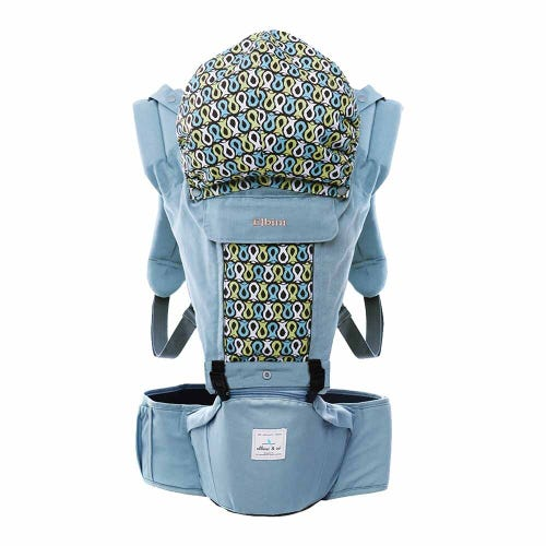 Elbini & Co Organic Hip Seat Carrier - Sky Blue