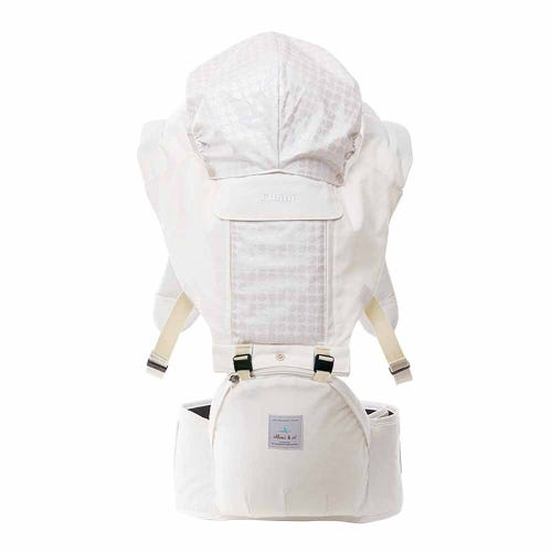 Elbini & Co Organic Hip Seat Carrier - White