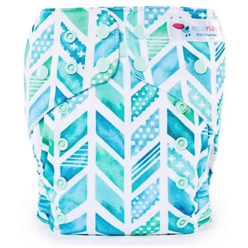 EcoNaps Reusable Cloth Nappy - Adventure Arrow