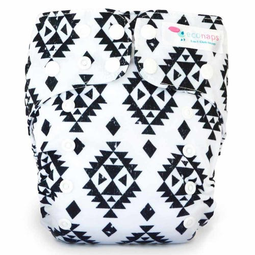 EcoNaps Reusable Cloth Nappy - Aztec Black