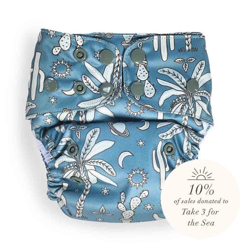 EcoNaps Reusable Cloth Nappy - Desert Sky