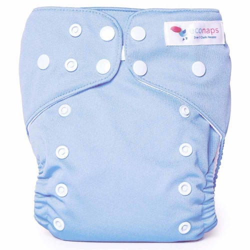 EcoNaps Reusable Cloth Nappy - Dusty Blue