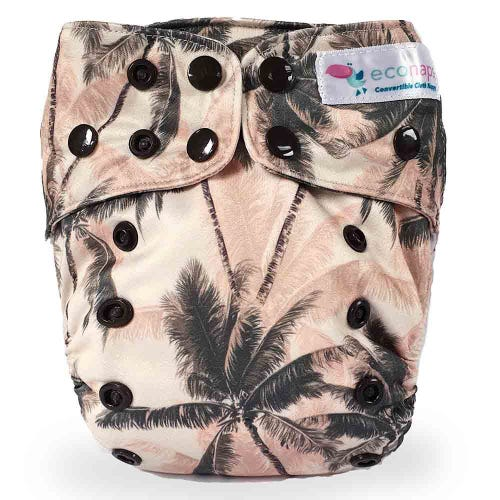 EcoNaps Reusable Cloth Nappy - Dusty Palms