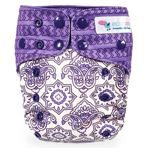 EcoNaps Reusable Cloth Nappy - Indian Rose