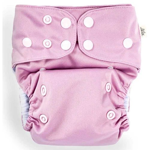 EcoNaps Reusable Cloth Nappy - Dusty Lilac