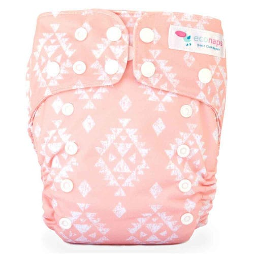 EcoNaps Reusable Cloth Nappy - Aztec Peach
