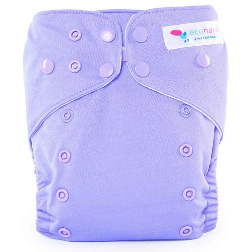 EcoNaps Reusable Cloth Nappy - Violet