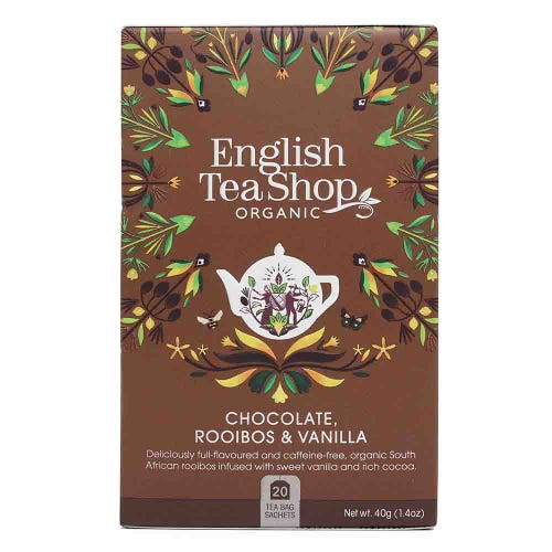 English Tea Shop Organic Chocolate, Rooibos & Vanilla Tea