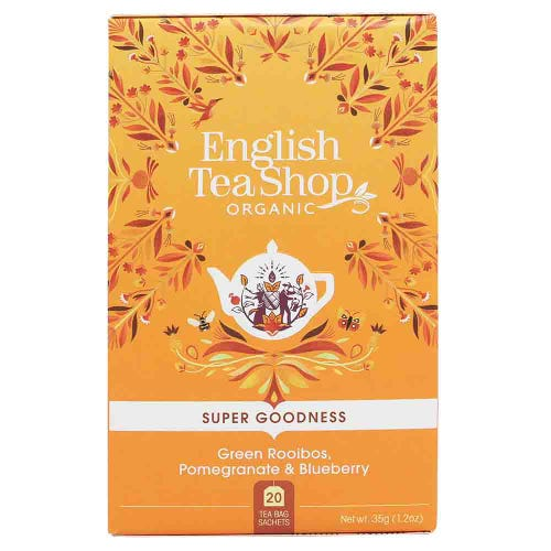 English Tea Shop Organic Green Rooibos, Pomegranate & Blueberry Tea