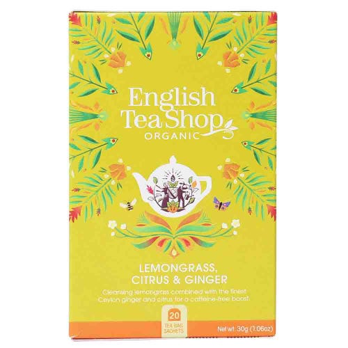 English Tea Shop Organic Lemongrass, Citrus & Ginger