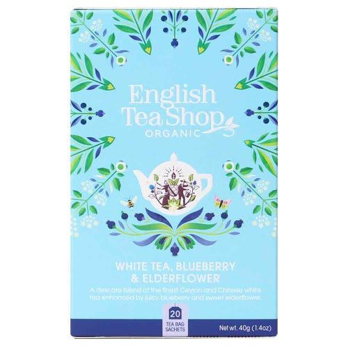 English Tea Shop Organic White Tea, Blueberry & Elderflower