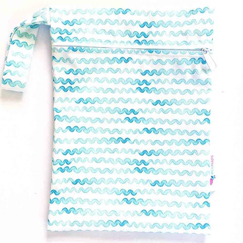 EcoNaps Reusable Mini Wet Bag - Aqua Waves