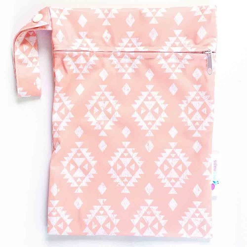 EcoNaps Reusable Mini Wet Bag - Aztec Peach