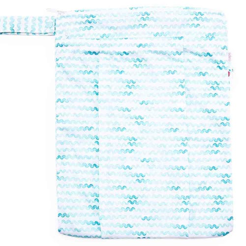 EcoNaps Reusable Wet Bag - Aqua Waves