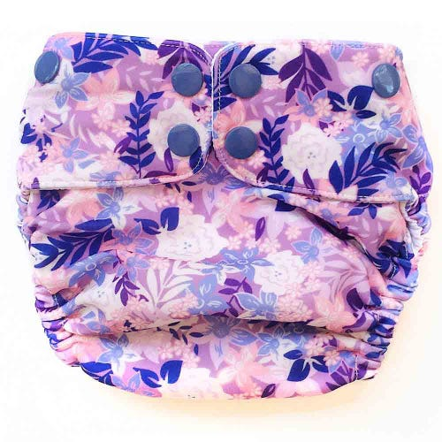 EcoNaps Swim Nappy Summer Blooms - Medium 8-10kg
