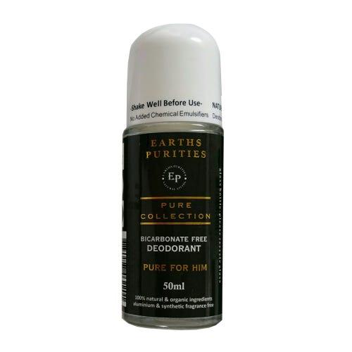 Earths Purities Bicarbonate Free Deodorant For Him (50ml)