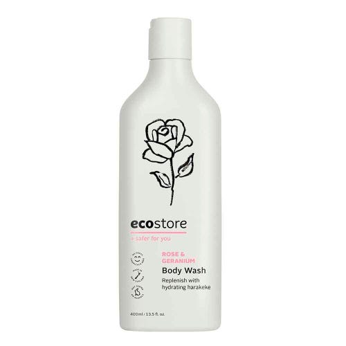 ecostore Body Wash Rose & Geranium (400ml)