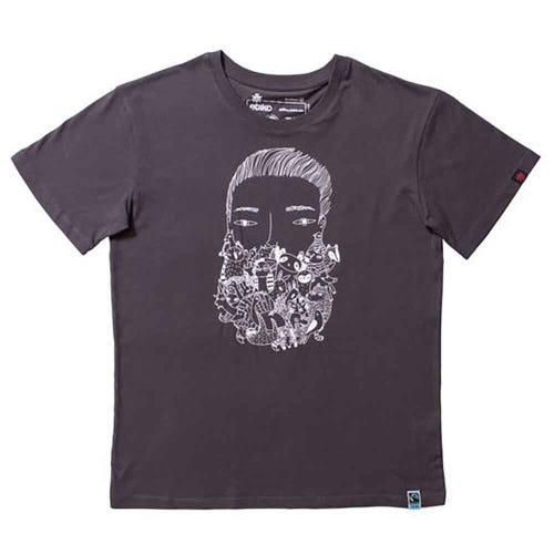 Etiko Organic T Shirt - Unisex - Charcoal Zoo Beard