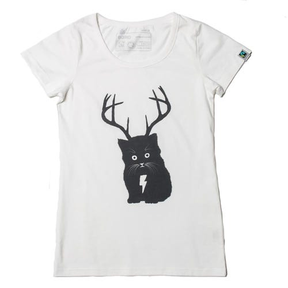 Etiko Organic T Shirt - Womens - Cat