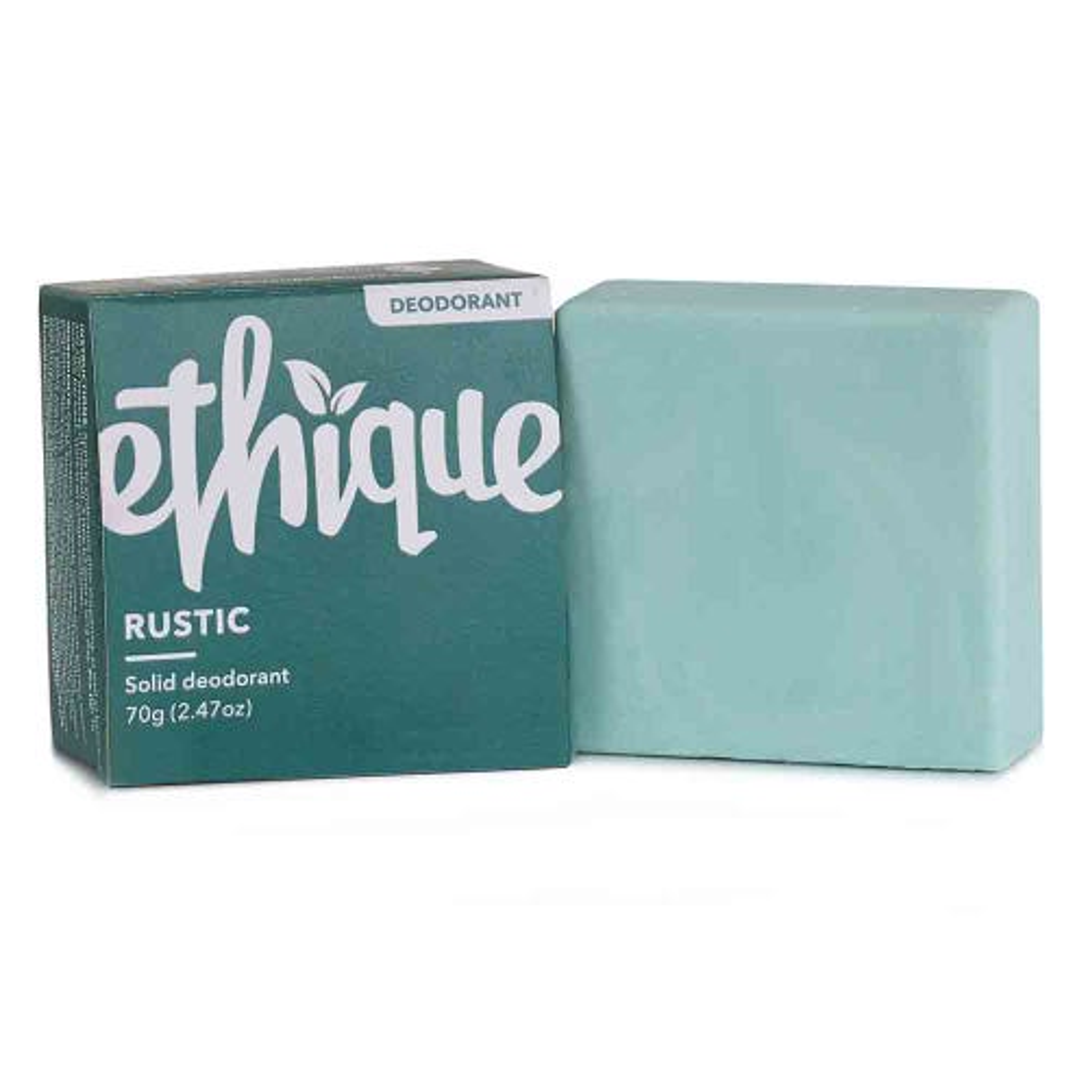 Ethique Rustic Solid Deodorant Bar - Lime & Eucalyptus (70g)