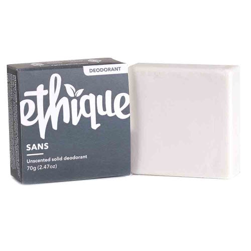Ethique Sans Solid Deodorant Bar - Unscented (70g)