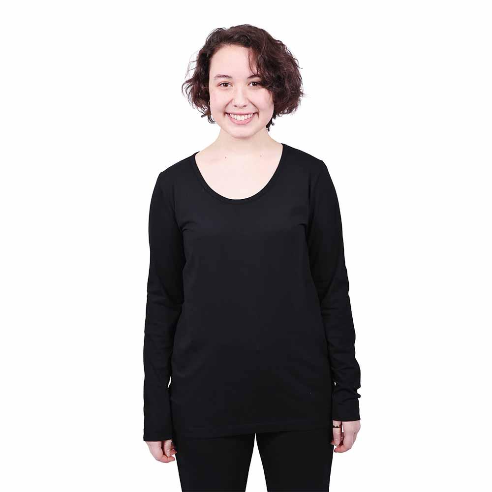 Etiko Women's Long Sleeved Tee - Black