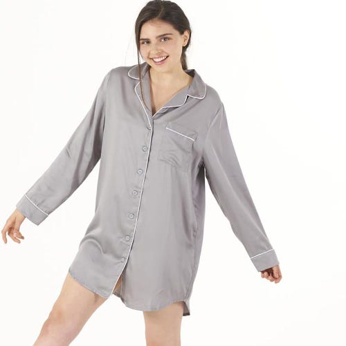 Ettitude Sleep Shirt Dove Grey