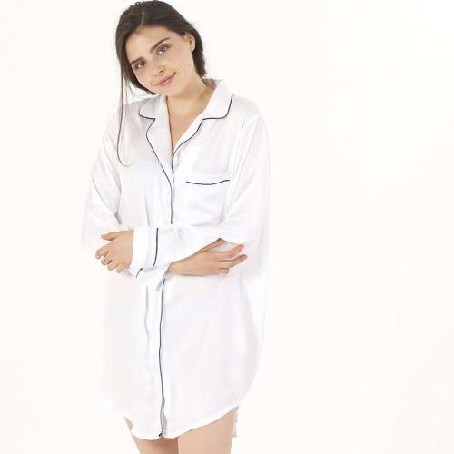 Ettitude Sleep Shirt Feather White