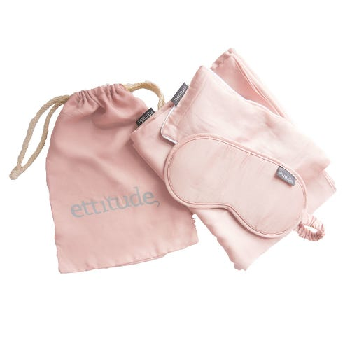 Ettitude Organic Bamboo Travel Kit Cloud Pink