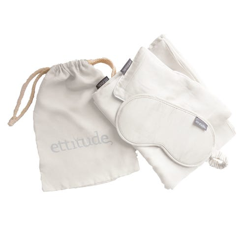 Ettitude Organic Bamboo Travel Kit Feather White