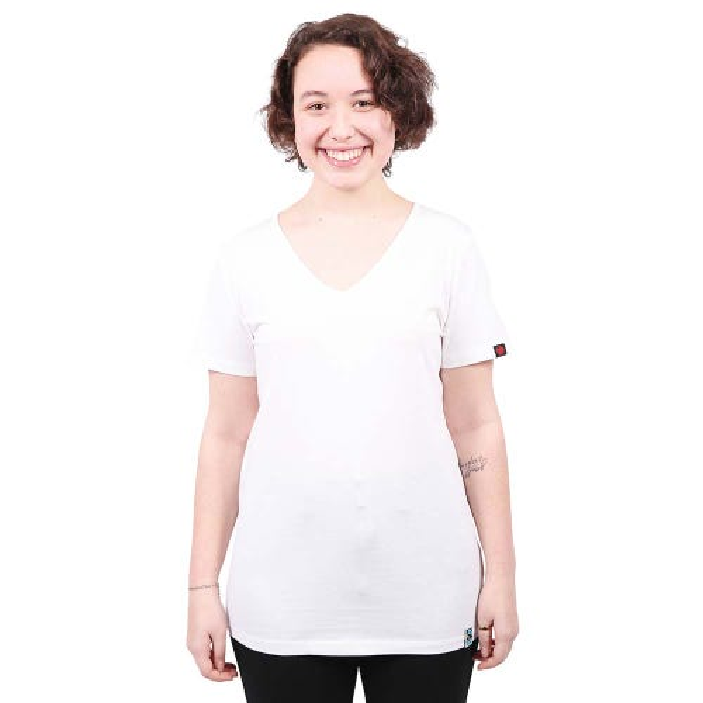 Etiko Women's V-Neck Tee - White