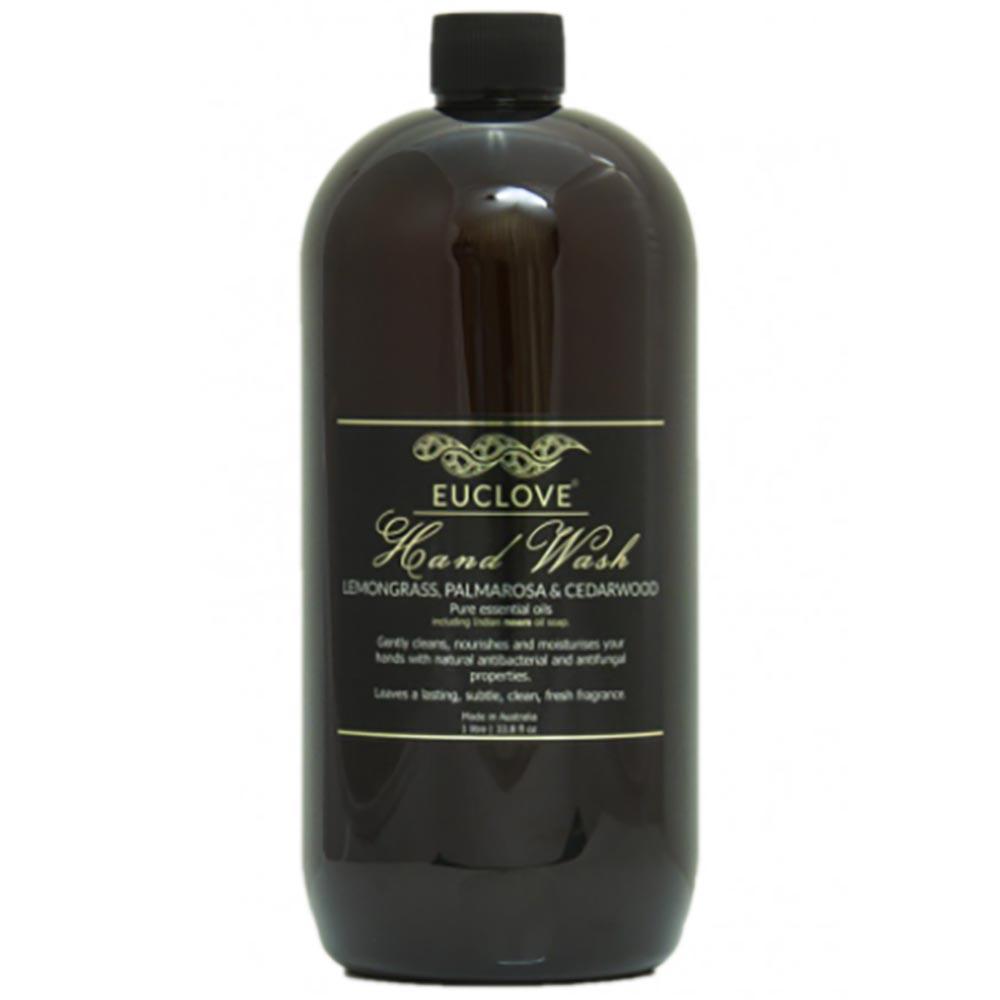 Euclove Natural Hand Wash Refill - Lemongrass, Palmarosa & Cedarwood (1 Litre)