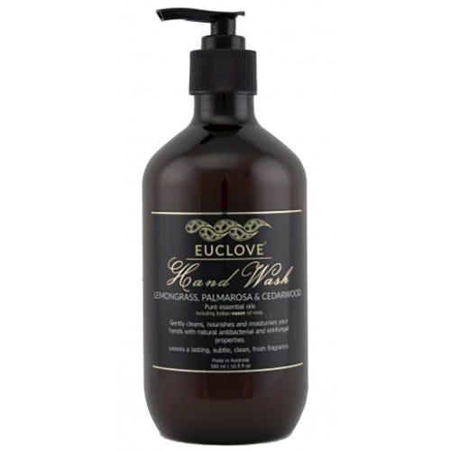 Euclove Natural Hand Wash - Lemongrass, Palmarosa & Cedarwood (500ml)