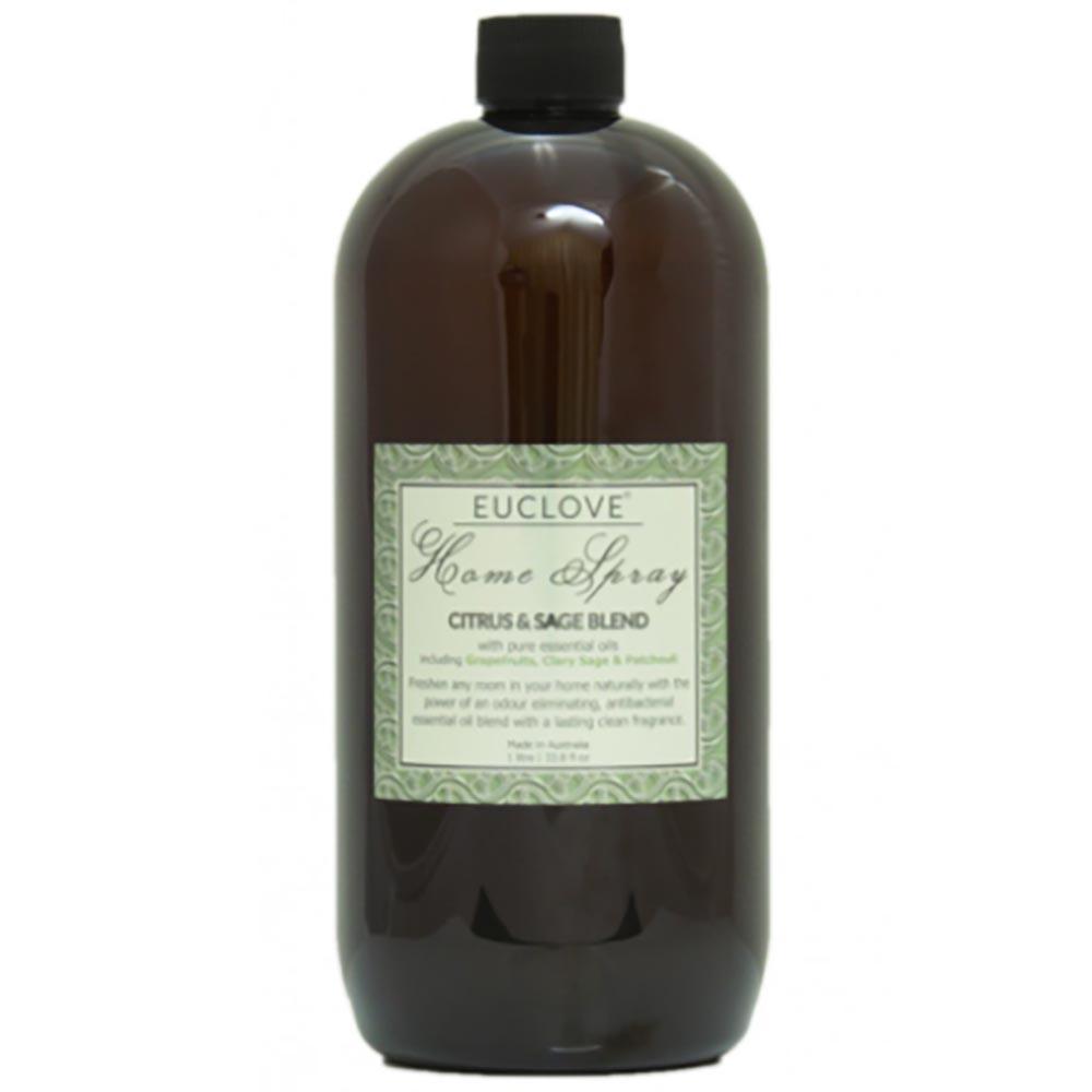 Euclove Natural Home Spray Refill - Citrus & Sage Blend (1 Litre)