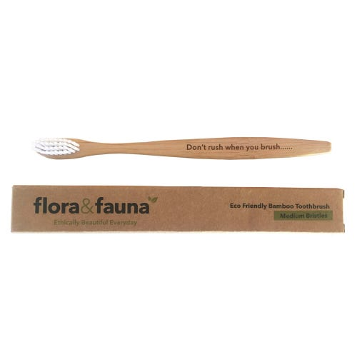 Flora & Fauna Bamboo Toothbrush Medium