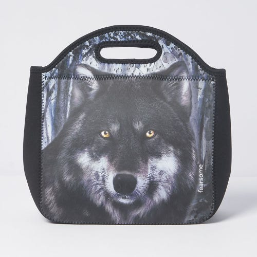 Fearsome In The Wild Lunch Bag Dark Wolf