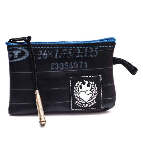 Felvarrom Recycled Inner Tube Coin Purse Blue