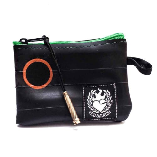 Felvarrom Recycled Inner Tube Coin Purse Green
