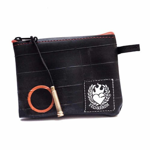 Felvarrom Recycled Inner Tube Coin Purse Red