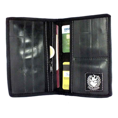 Felvarrom Recycled Inner Tube Passport Holder Black