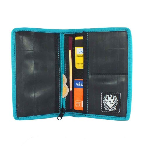 Felvarrom Recycled Inner Tube Passport Holder Blue